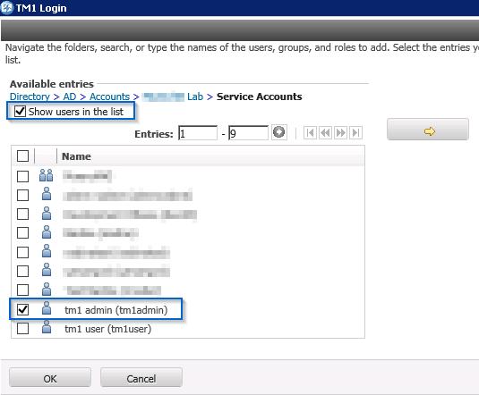 User import UI from Cognos Analytics