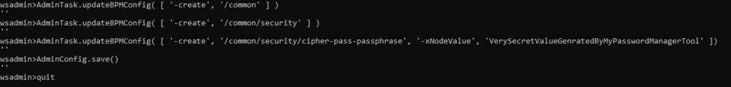 Setting encryption key passphrase