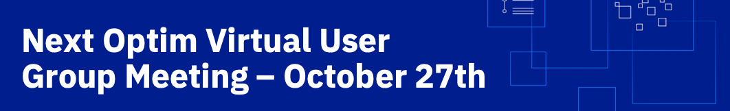 Next Optim Virtual User Group Meeting is October 27th!