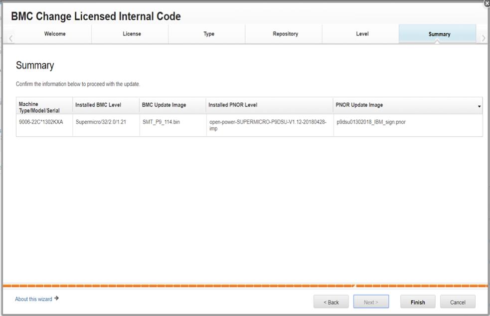 BMC Licensed Internal Code Summary