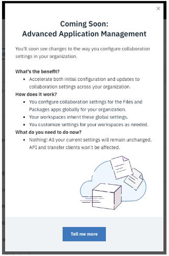 Screenshot of in-app notification