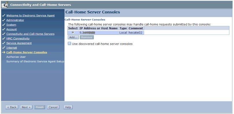 Call Home Server Consoles