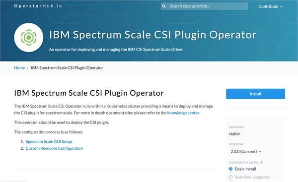 IBM Spectrum Scale CSI Operator