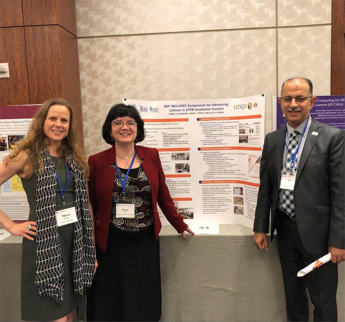 Dr. Marci R. McMahon, Dr. Marie T. Mora, and Dr. Ala R. Qubbaj at the 2019 NSF INCLUDES National Network Convening