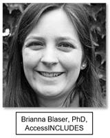 Brianna Blaser, PhD, AccessINCLUDES