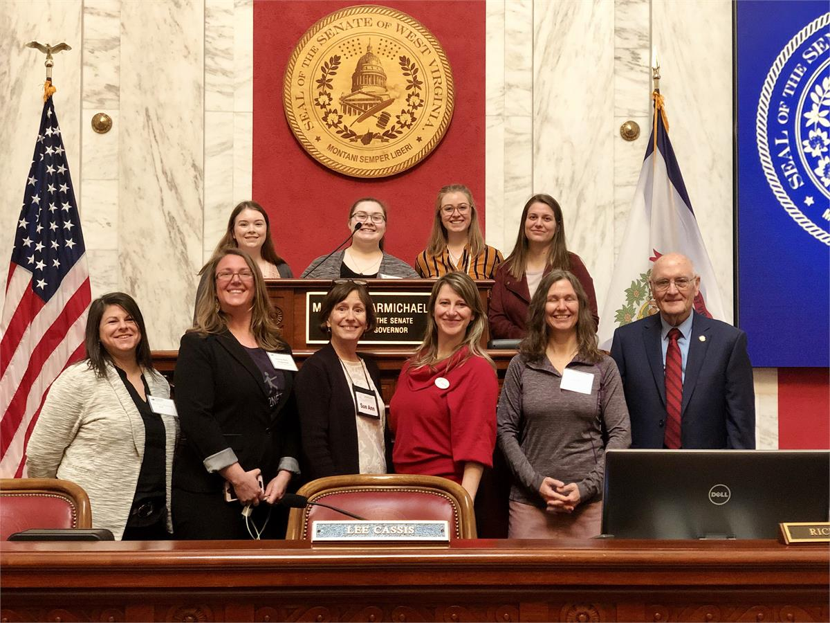 Sarah Riley and other members of the First2 Network at the West Virginia Undergraduate Research Day at the Capitol
