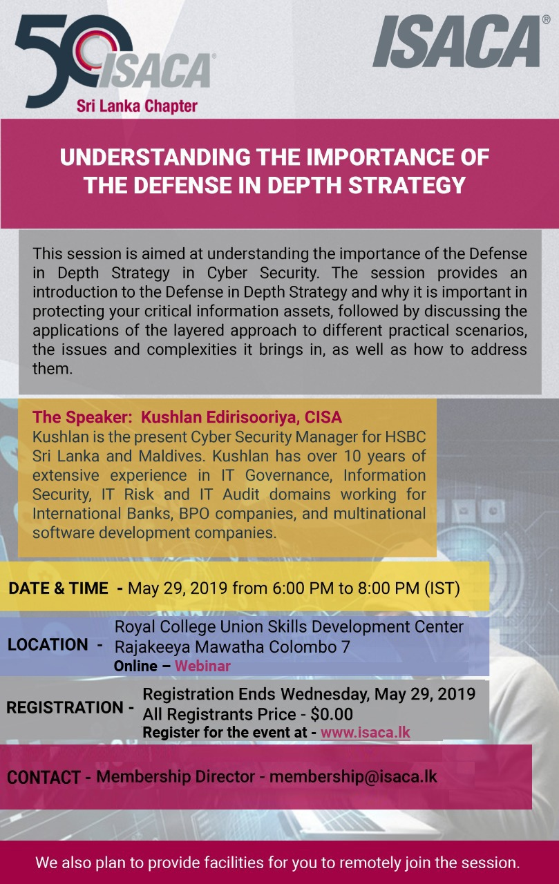Understanding The Importance Of The Defense In Depth Strategy Sri Lanka Chapter