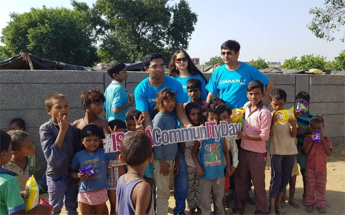 Distribution of Food Packets to Underprivileged Children at Greater Noida