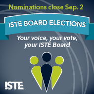 2019 ISTE Board Nominations - Open until September 2