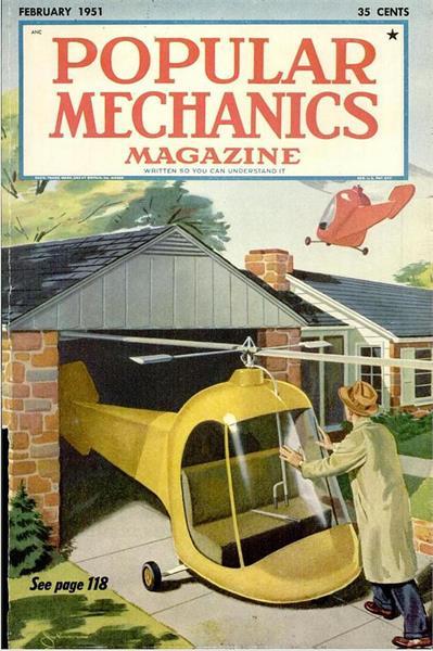 Popular Mechanics cover, February 1951