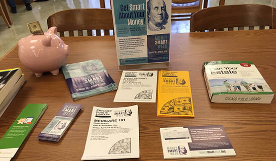 A table with several MSW resources laid out on it.
