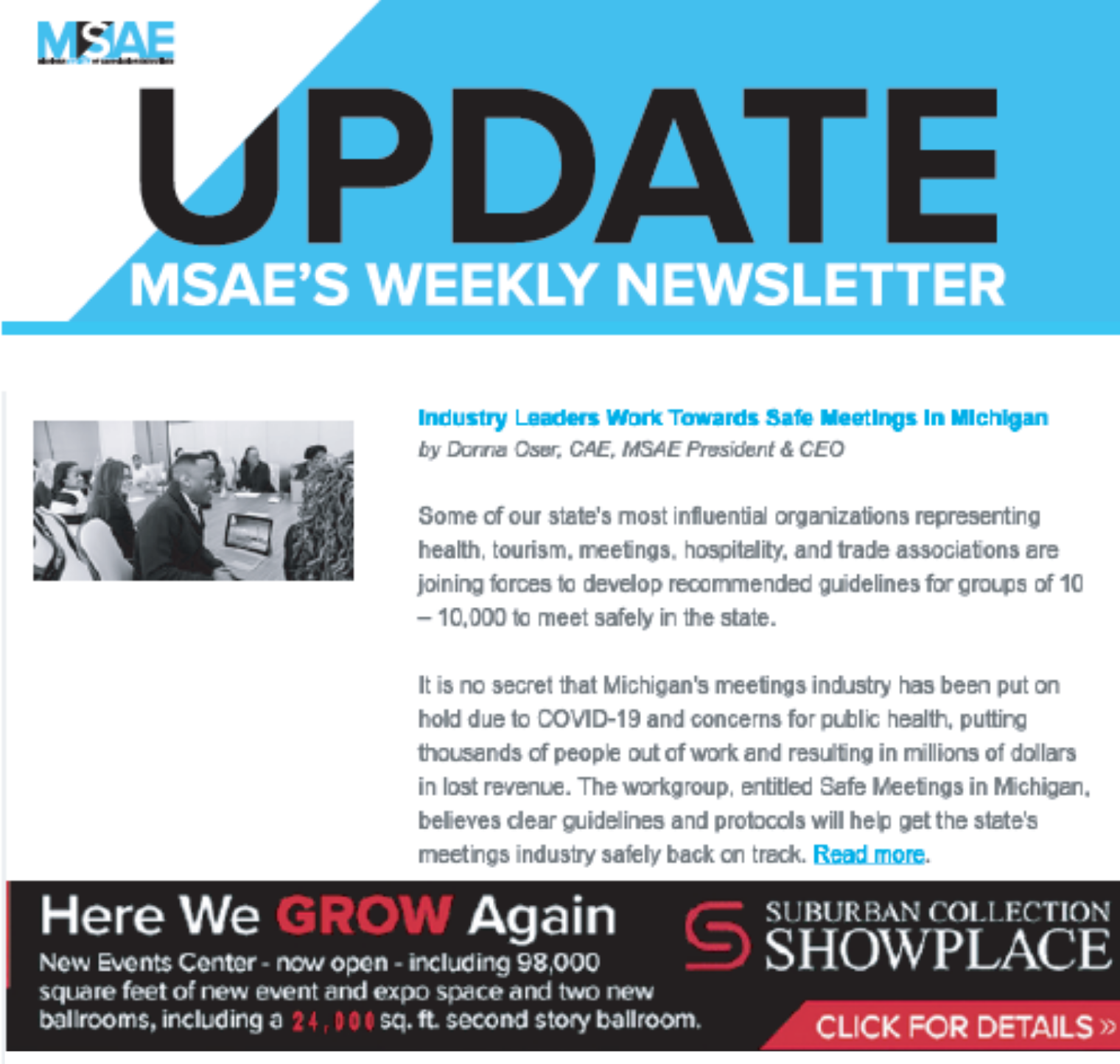 image of MSAE's weekly Update