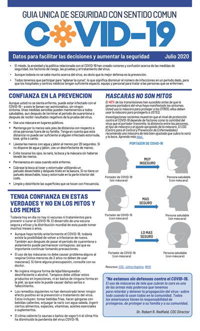 Guia Unicade Seguridad Con Sentido Comun - COVID-19