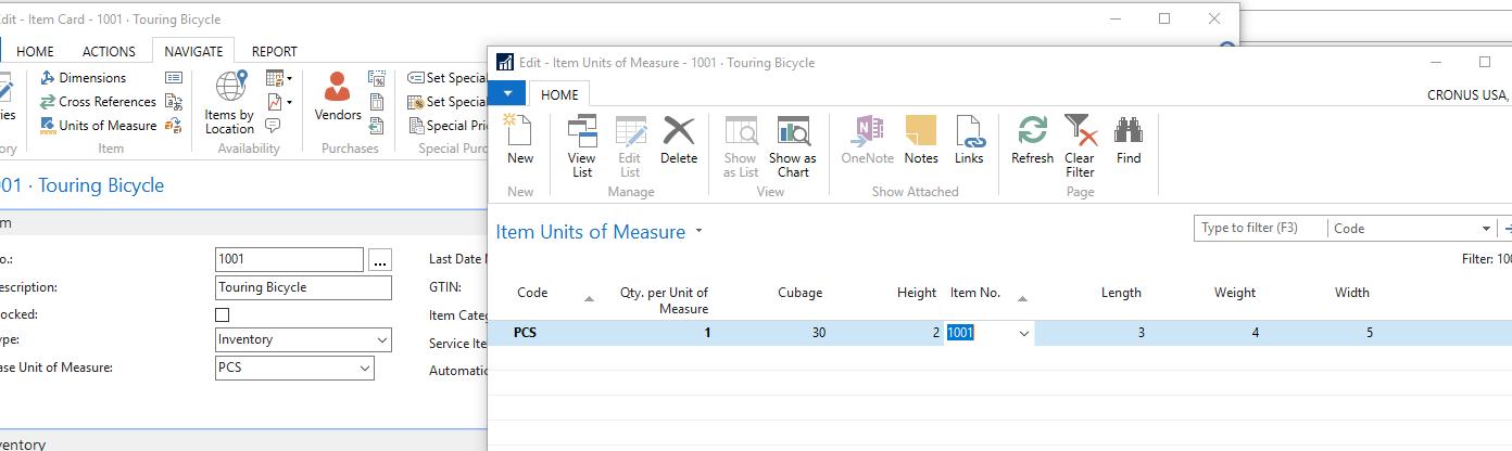 Item Units of Measure