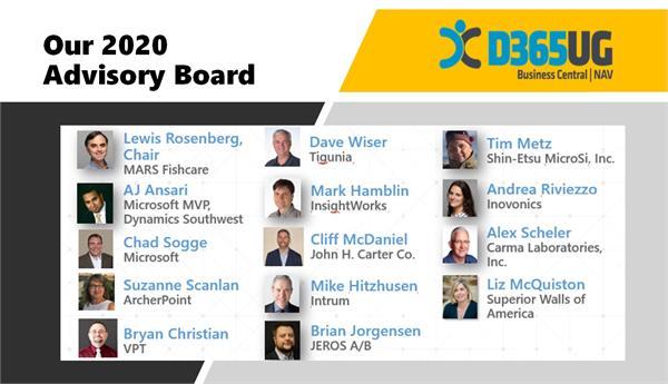 2020 D365UG-BC-NAVUG Board