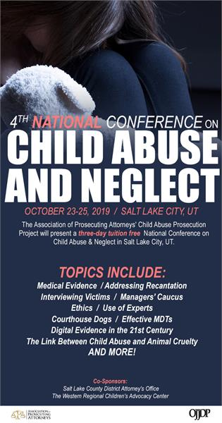 Please register for the 4th National Conference on Child Abuse & Neglect, here:https://apainc.wufoo.com/forms/zwx1ec01c0bkf9/