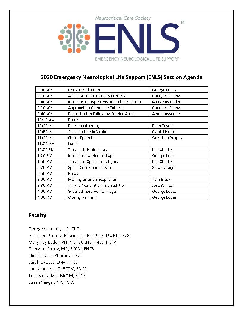 Upcoming Events - Neurocritical Care Society