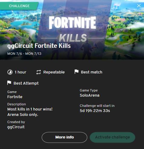 Fortnite Kills Challenge