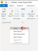Right-Click and select Paste to paste the query and all it's dependents.
