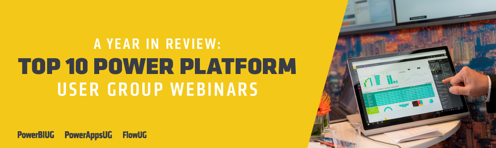 Top Power Platform User Group Webinars