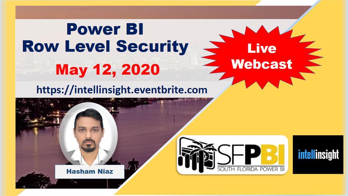 ONLINE - Power BI Row-Level Security (RLS) by Hasham Niaz