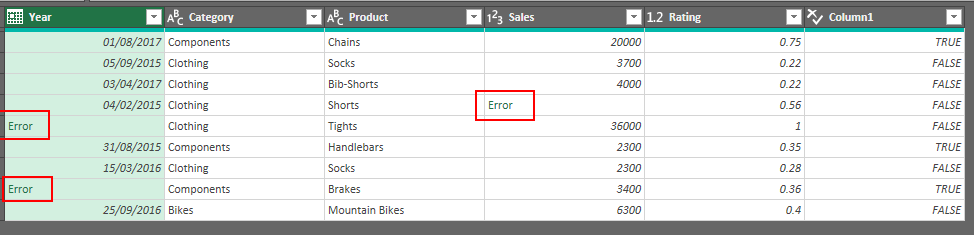 Error message due to unpropped data type
