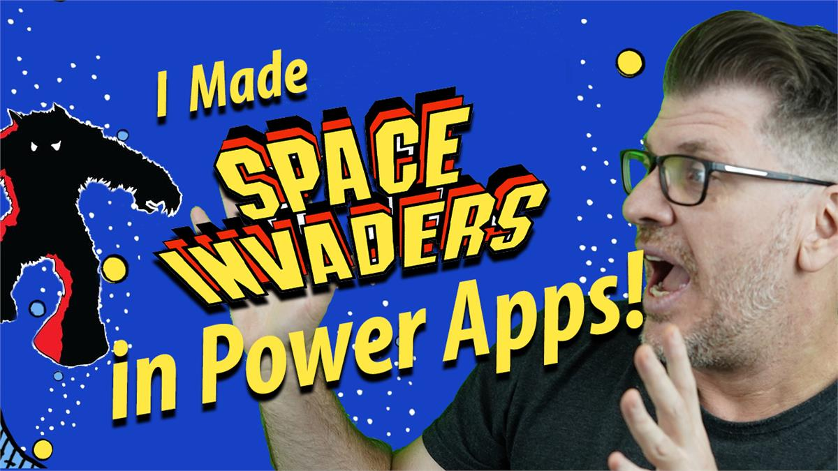 I made Space Invaders in Power Apps!