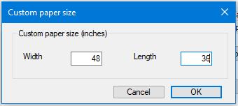 Set custom paper size