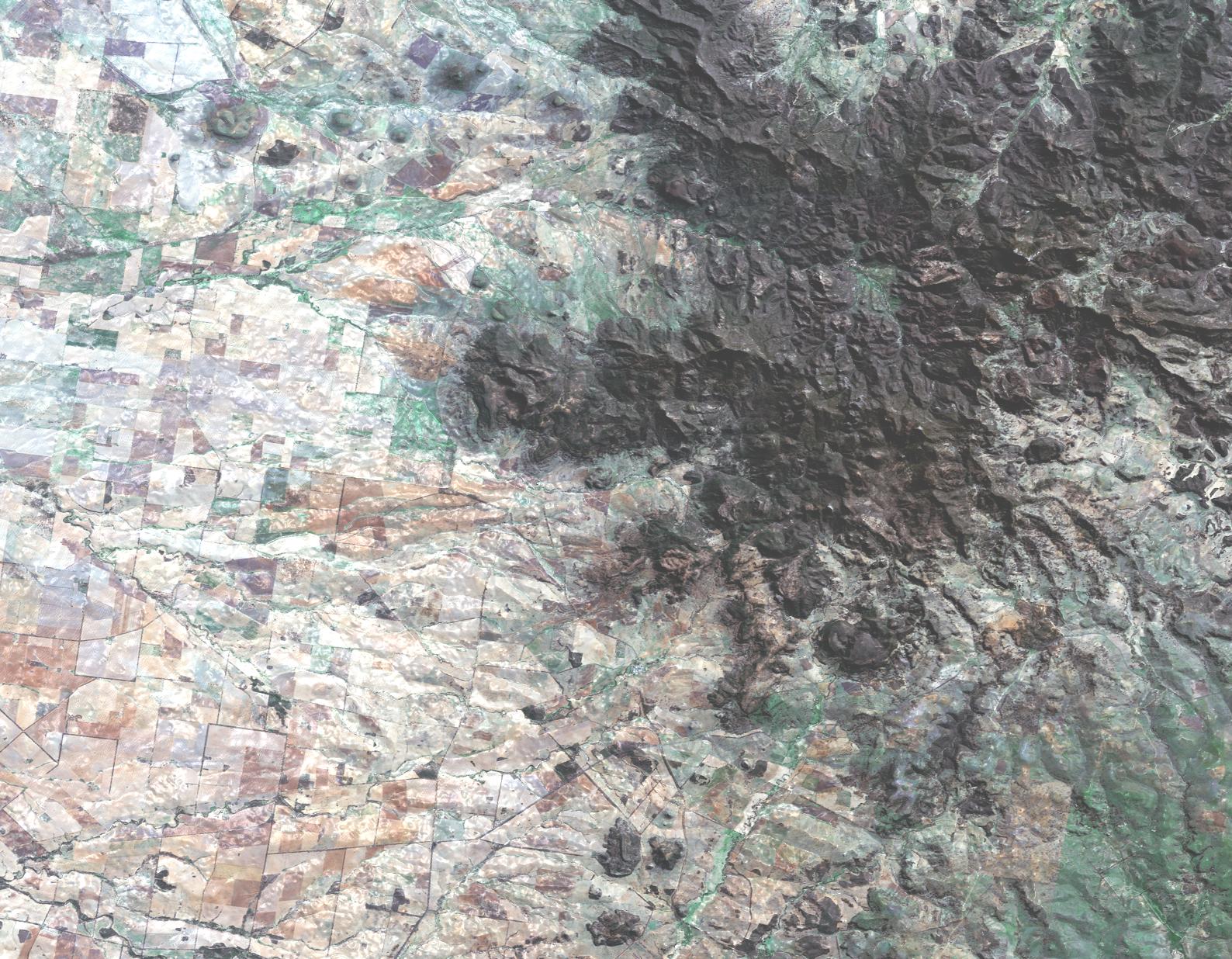 RGB Natural Color, enhanced Landsat - 8