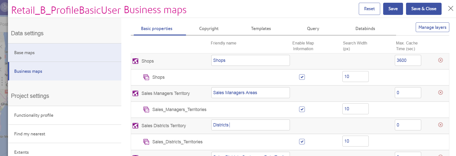 named Maps Friendly Name setting in SSA