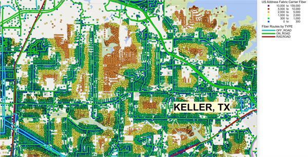 Keller, Texas Carrier Fiber Addresses