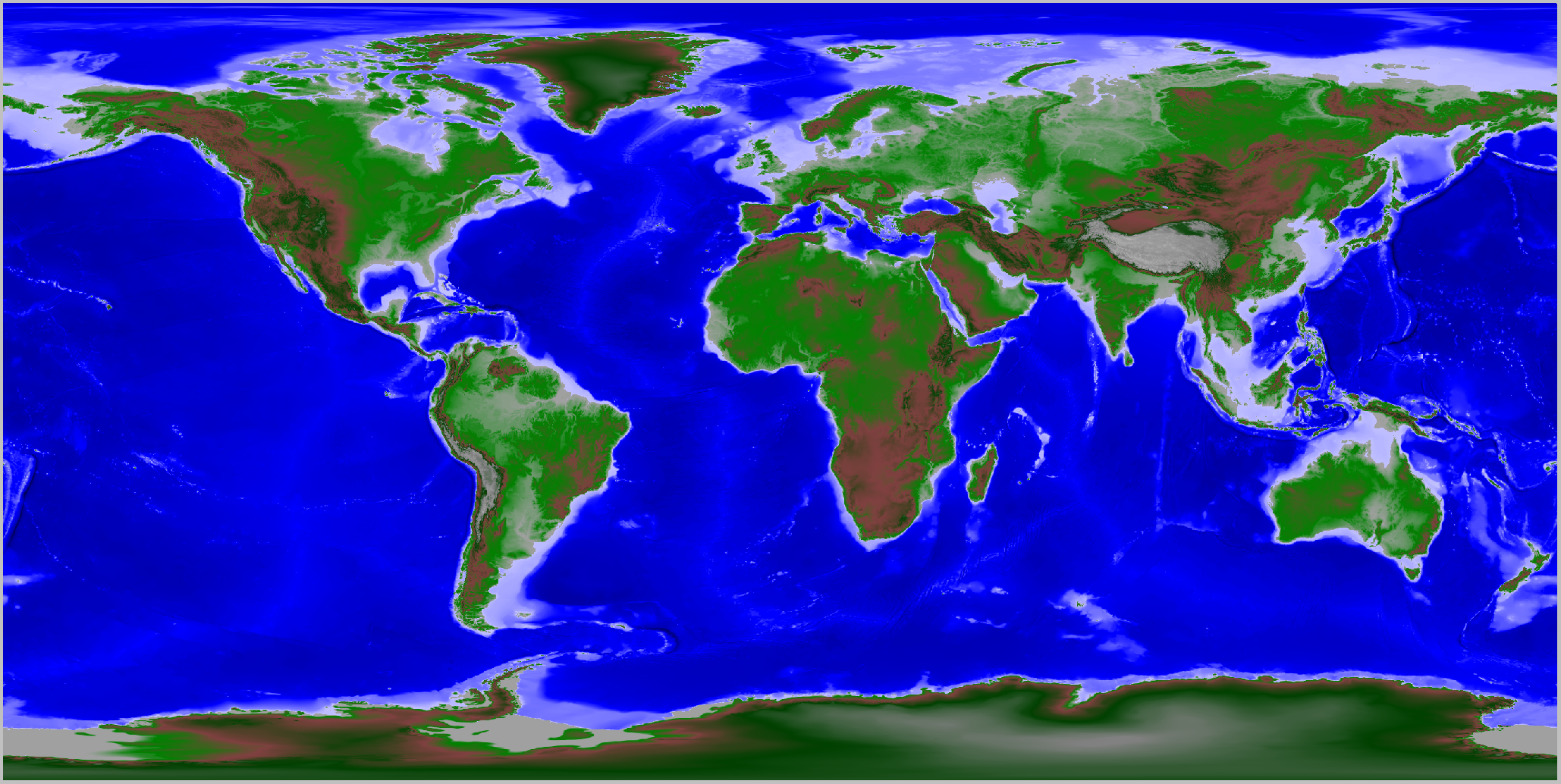 Fixed data - color transform rendering of the globe