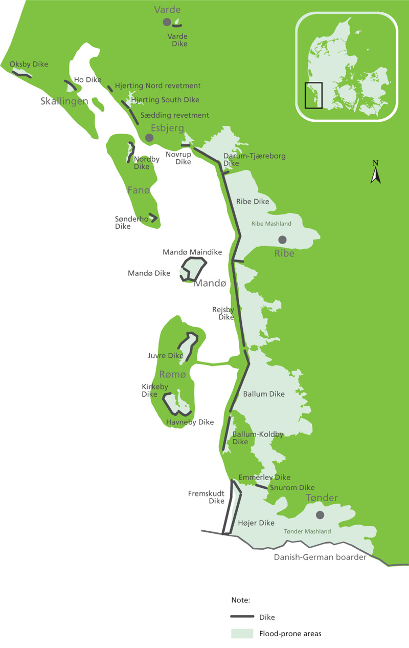 Wadden Sea Dyke - sourced from Google Images