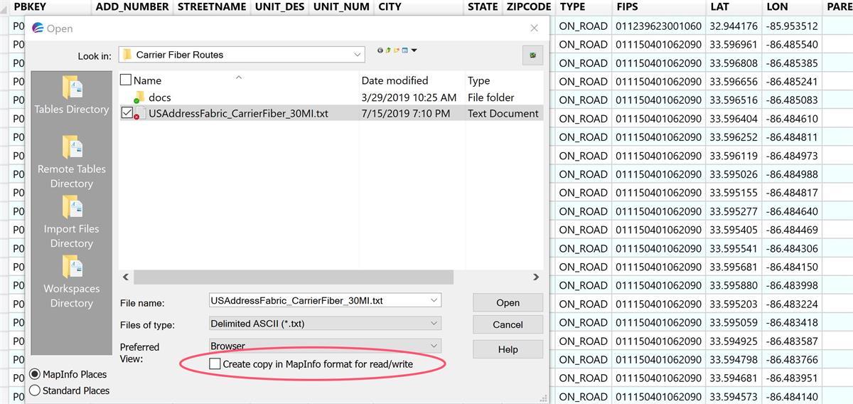 Import CSV file for NativeX format preparation