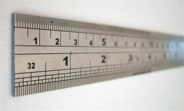 Ruler with inches and centimeters