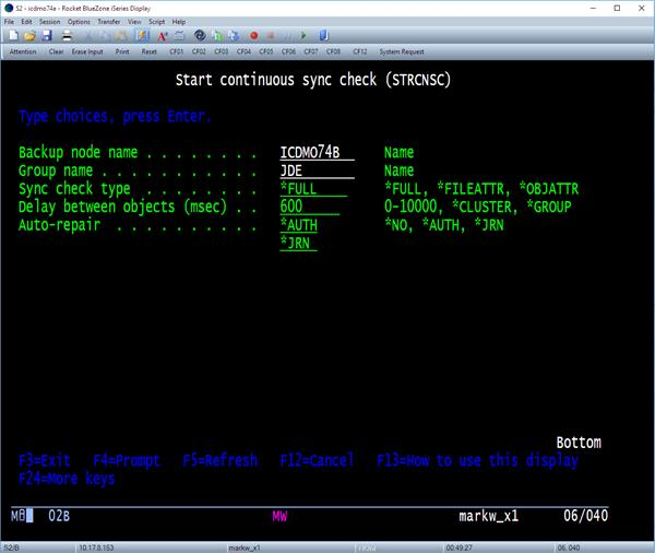 Use STRCNSC to invoke a CSC on an ACTIVE group