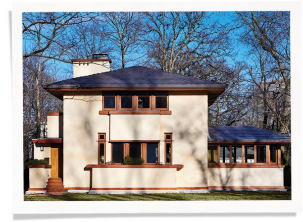 Historic Frank Lloyd Wright Prairie School Home with Indow Inserts