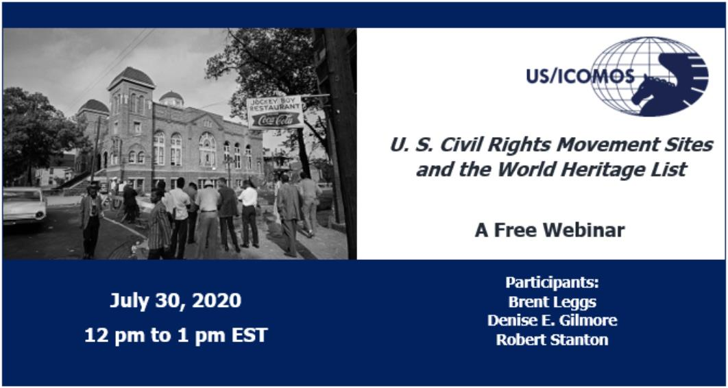 U.S. Civil Rights Sites Webinar, 30 July 2020