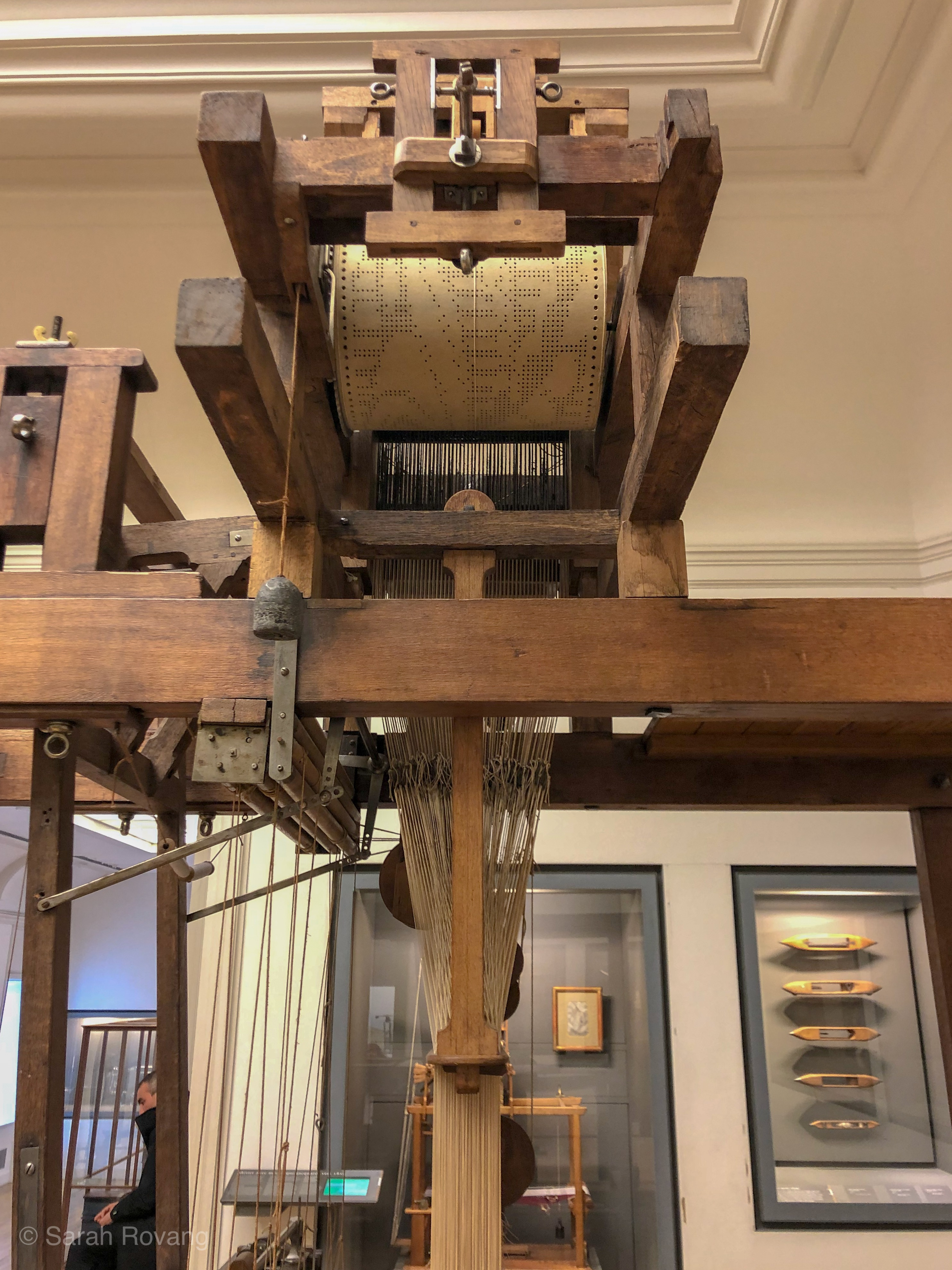 View of a Jacquard loom