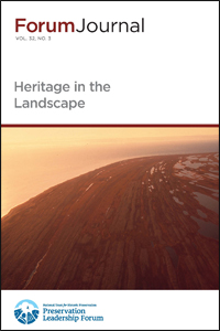 Cover for the Heritage in the Landscape issue of Forum Journal