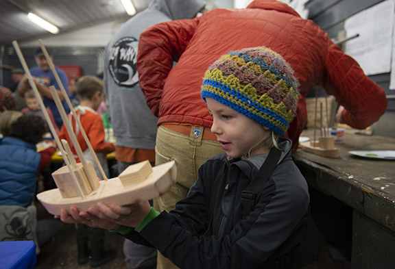 toy boat building at Sitka Maritime Heritage Society. (Photo James Poulson)