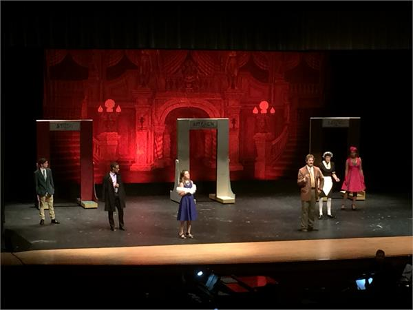Production photo of JMHS Clue the Musical