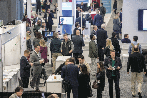 attendees fill SIR Expo