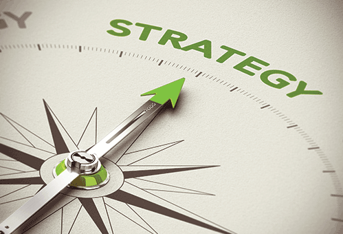 """Compass pointing toward """"Strategy"""""""