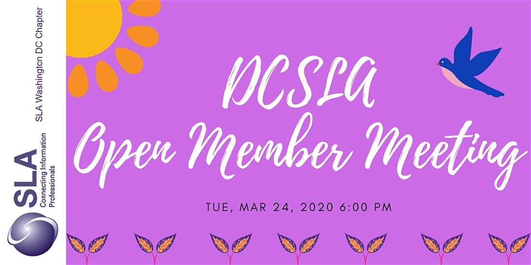DCSLA Open Member Meeting