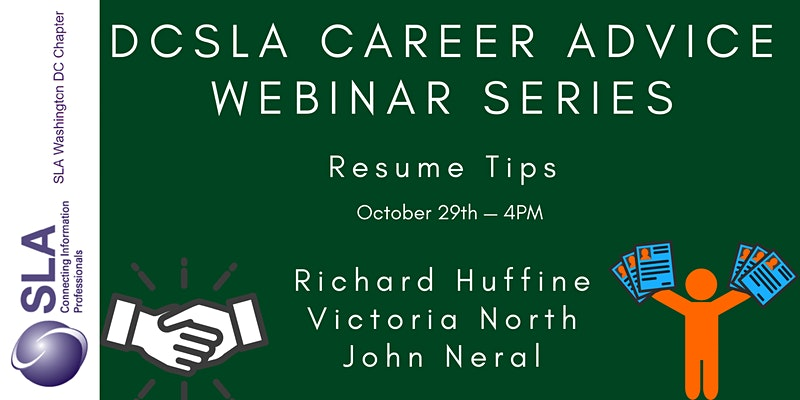 DC SLA Career Advice Webinar: Resume Tips