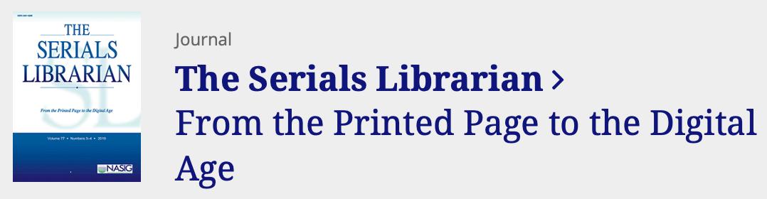 serials librarian log