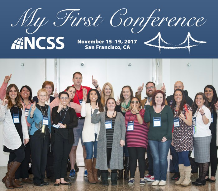 Group of first time conference attendees.