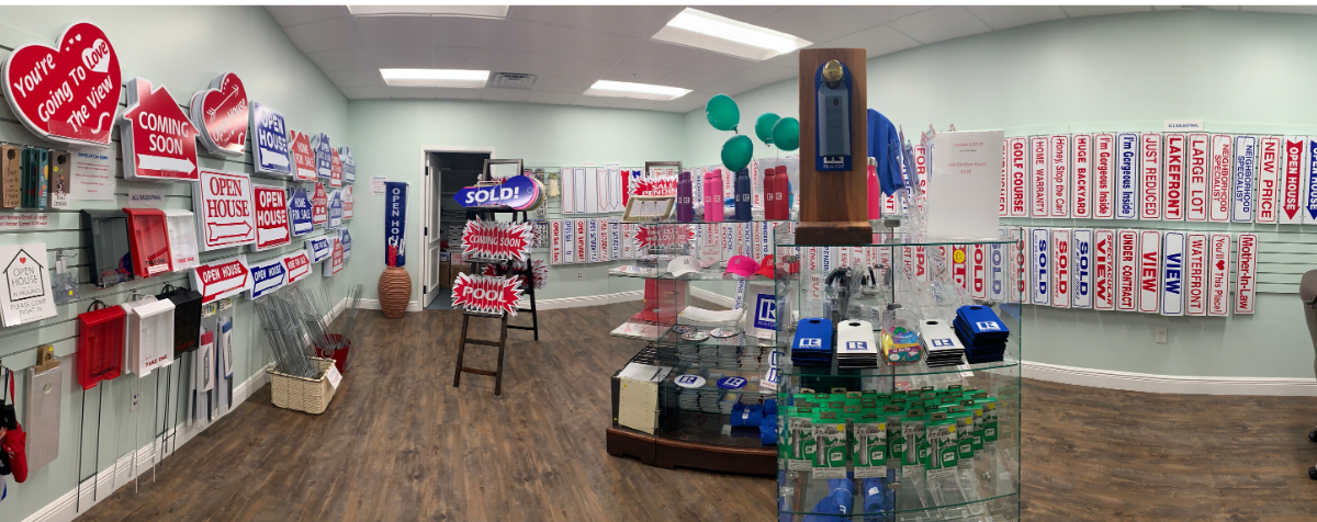 Panoramic image of store