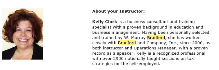 instructor bio
